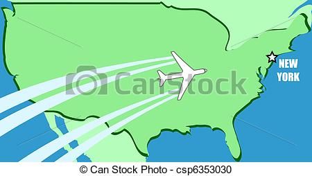 Airplane to us clipart map. Usa clipartfox simplified vector