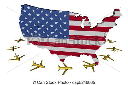 Airplane to us clipart map. Usa clipartfox planes flying