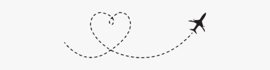 Airplane traveling clipart image freeuse download freetoedit #airplane #travel #dash #dashline - Heart Shaped Airplane ... image freeuse download