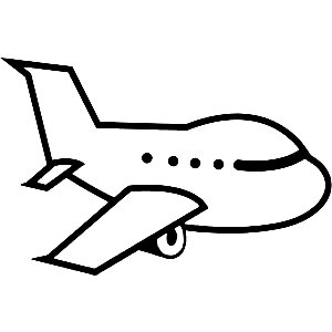 Airplane with tail wheel clipart black and white vector download Black And White Airplane Pictures | Free download best Black And ... vector download