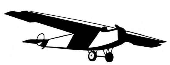 Airplane with tail wheel clipart black and white black and white stock Small window decal 10 inches long tail dragger by IndianaPilot ... black and white stock