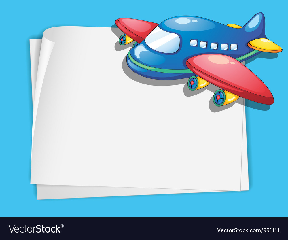Airplanes frame clipart picture free stock Plane paper copyspace vector image picture free stock
