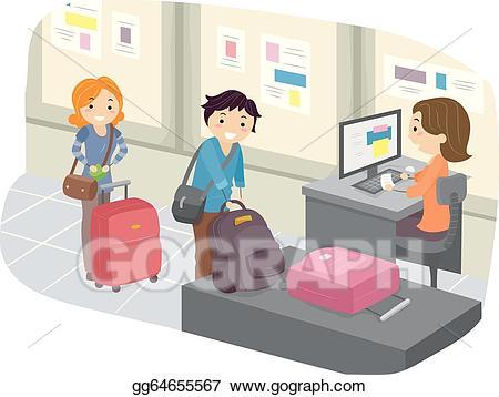Airport checkin clipart
