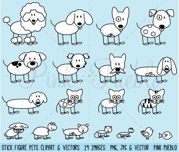 Airport clipart with pets clipart free library Stick Figure Pets Clipart Clip Art Vectors, Stick Family Animals ... clipart free library