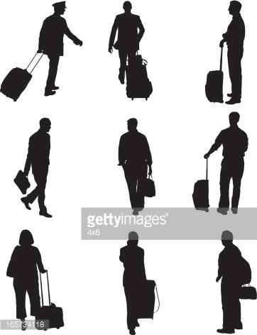 Airport passenger clipart picture royalty free stock Airport Passengers With Luggage stock vectors - Clipart.me picture royalty free stock