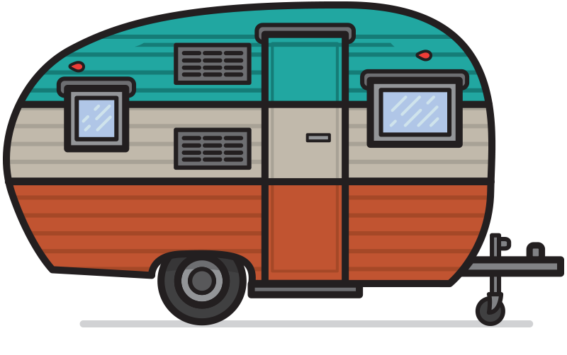 Clipart camping trailer jpg free stock Retro camper clipart - ClipartFest | Illustration | Camper clipart ... jpg free stock