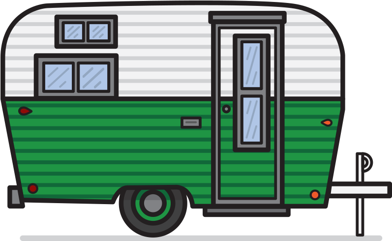 Airstream trailer clipart image freeuse download Vintage Camper Clipart - Vintage Travel Trailer Clipart ... image freeuse download