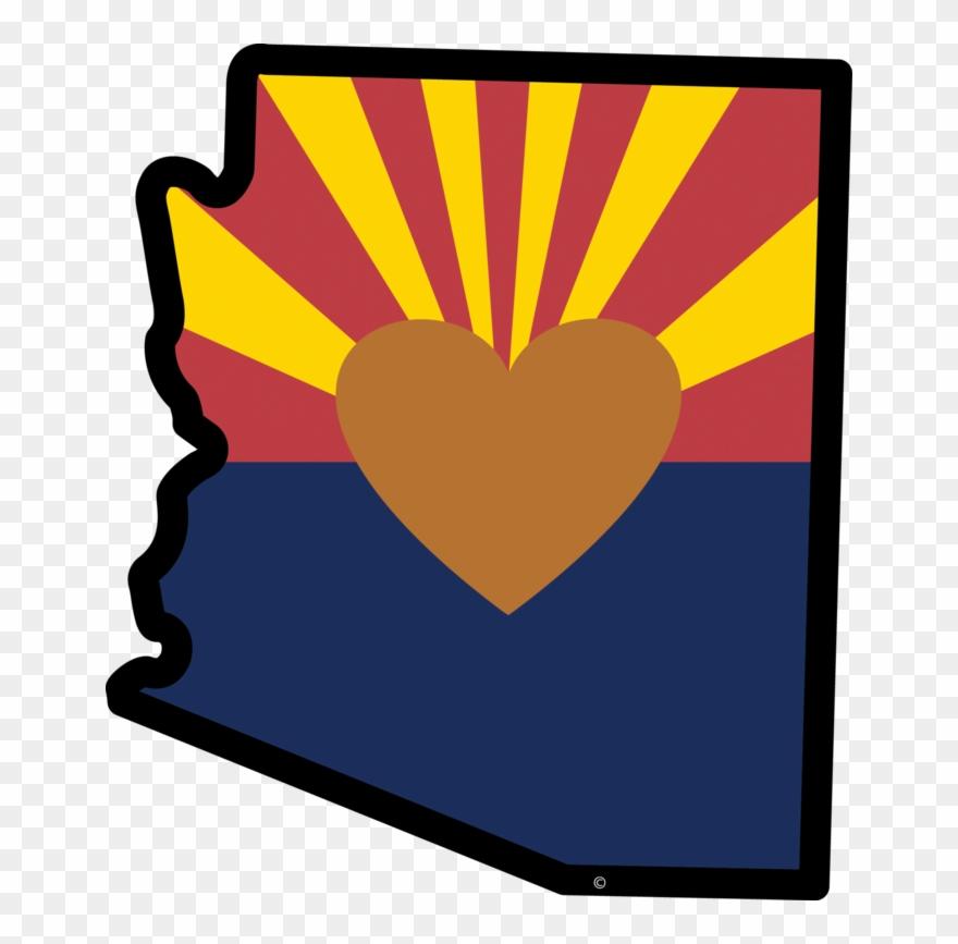 Arizona universiy clipart png free library Arizona - State Of Arizona Heart Clipart (#3342706) - PinClipart png free library