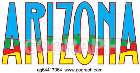 Airzona clipart graphic library download Vector Art - Arizona . Clipart Drawing gg64417064 - GoGraph graphic library download