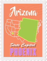Airzona clipart image freeuse Fifty States: Arizona Clipart - Illustrations - Arizona Graphics image freeuse