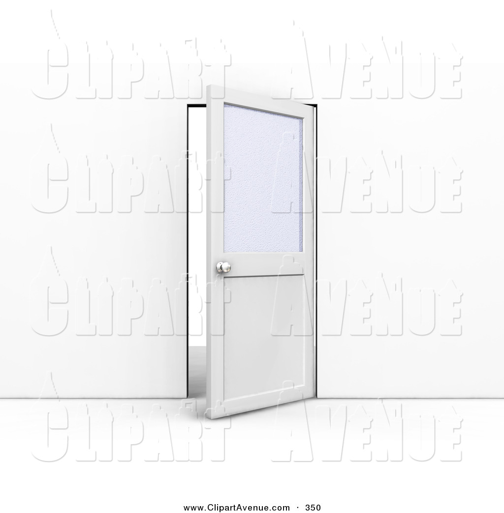 Office door clipart svg free Avenue Clipart of an Ajar Office Door with a Privacy Window, Leading ... svg free