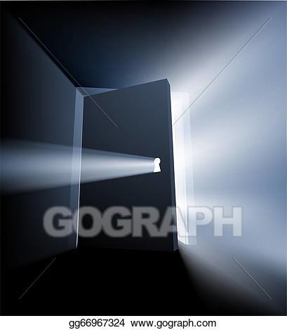 Ajar door clipart royalty free library Vector Art - Ajar door light beam concept. EPS clipart gg66967324 ... royalty free library