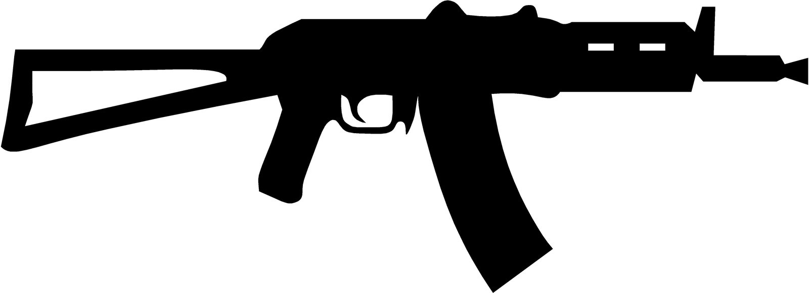 Ak 47 image clipart picture black and white download Rotate & Resize Tool: guns clipart ak47 picture black and white download