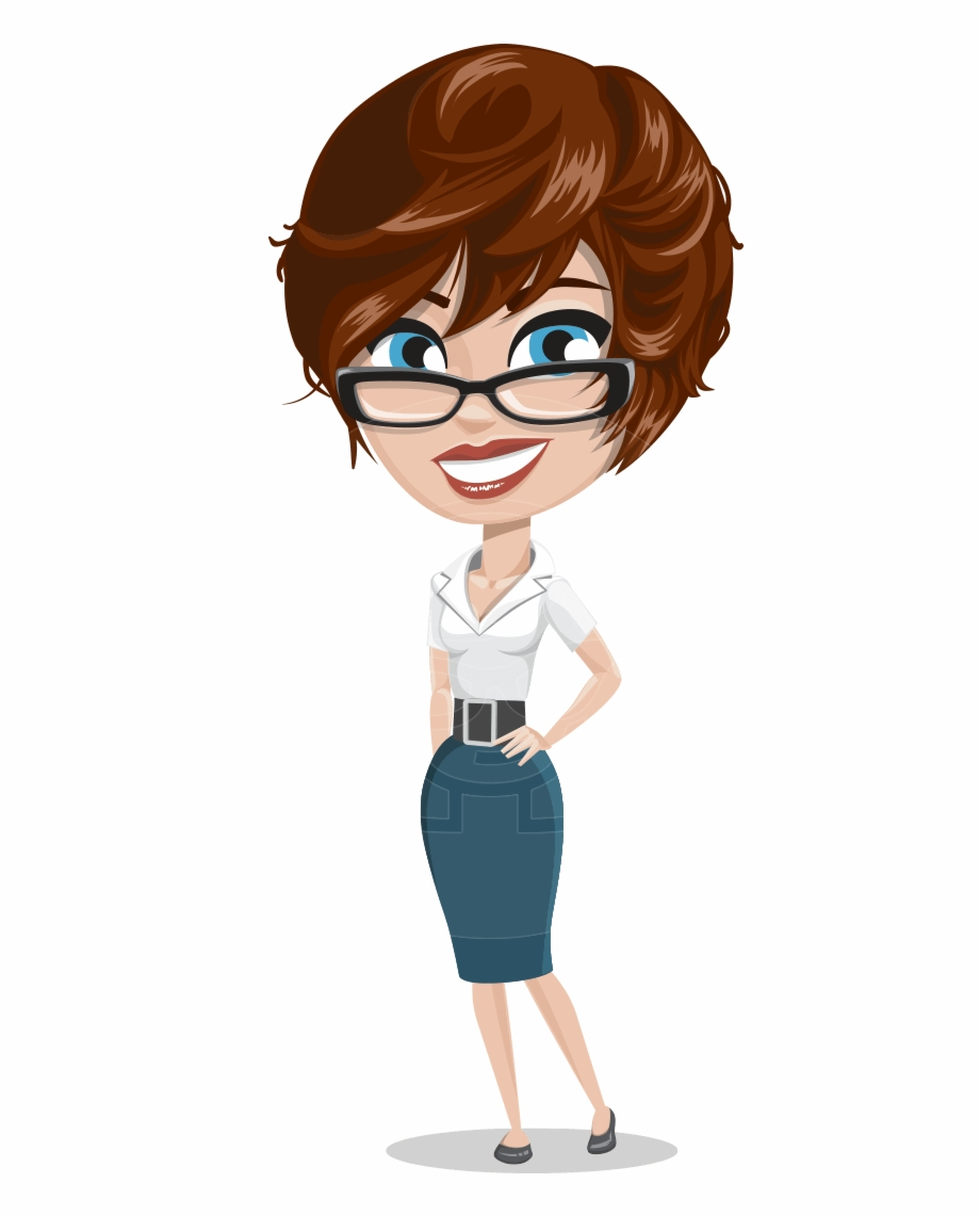 Aka lady clipart vector freeuse Png Download This Stock Stylish Woman Cartoon Character - Office ... vector freeuse