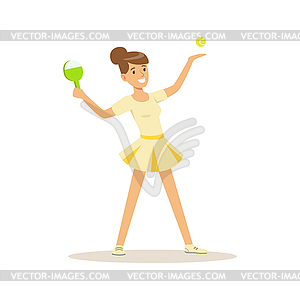 Aktiv clipart clipart freeuse download Weibliche Sportler spielen Tischtennis-Spiel, aktiv - Vektor-Clipart clipart freeuse download