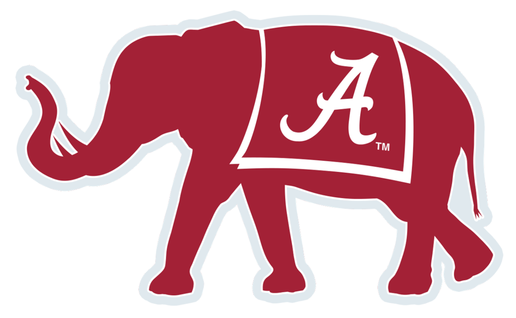 Alabama football elephant clipart image black and white download Alabama Crimson Tide football African elephant Big Al Logo ... image black and white download