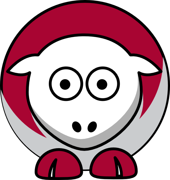 Free alabama football clipart picture black and white library Sheep Alabama Crimson Tide Team Colors - College Football Clip Art ... picture black and white library