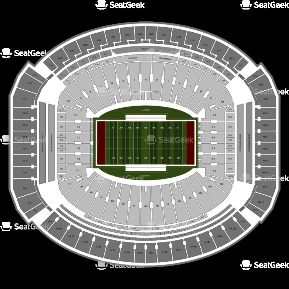Alabama crimson tide football clipart image royalty free download Alabama Crimson Tide Football Seating Chart Seating Chart | SeatGeek image royalty free download