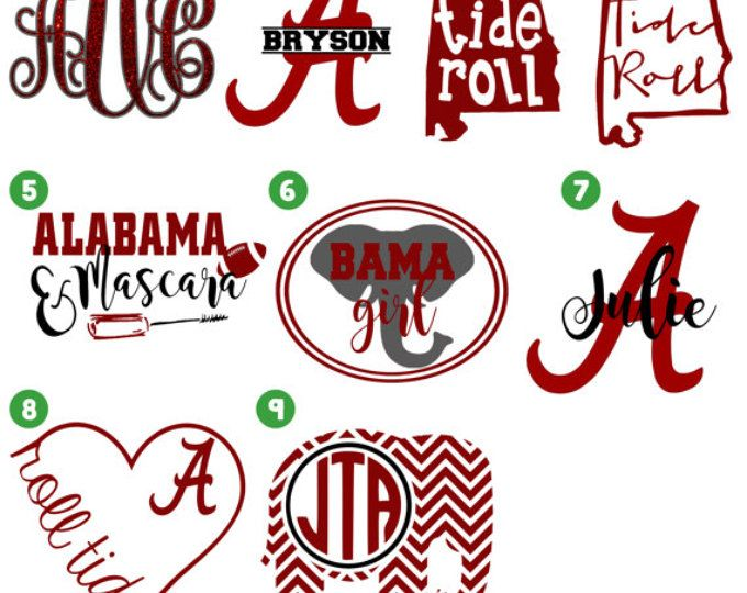 Alabama end goals clipart vector royalty free download ALABAMA Monogram decal /Monogram sticker/ Monogram car decal / Vinyl ... vector royalty free download