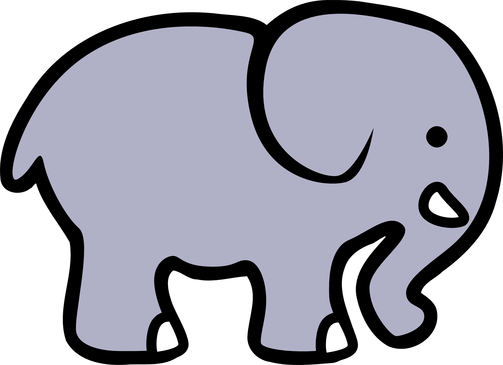 Elephant and piggie trunk clipart pumpkin