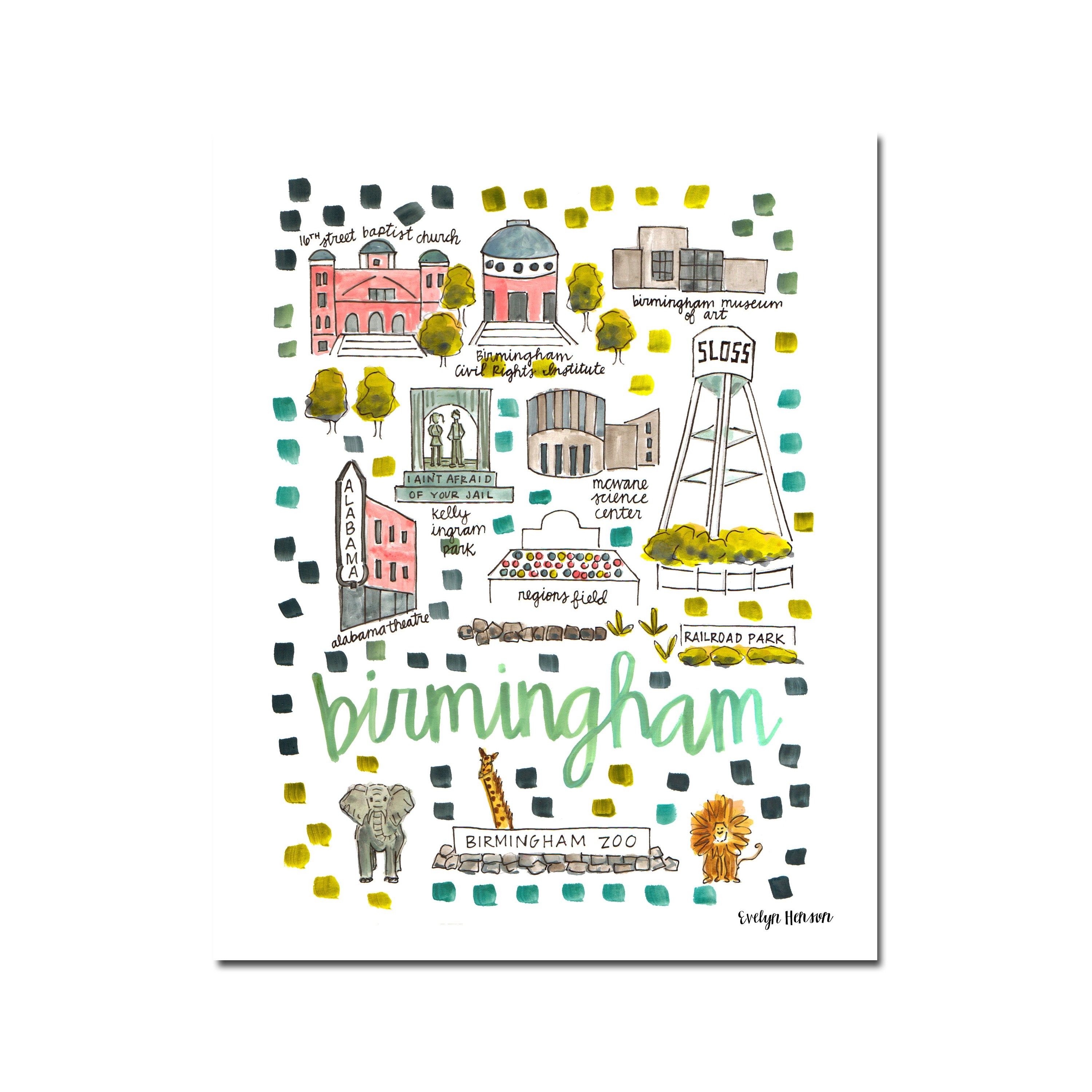 Alabama house watercolor clipart svg freeuse stock Alabama Prints – Evelyn Henson svg freeuse stock