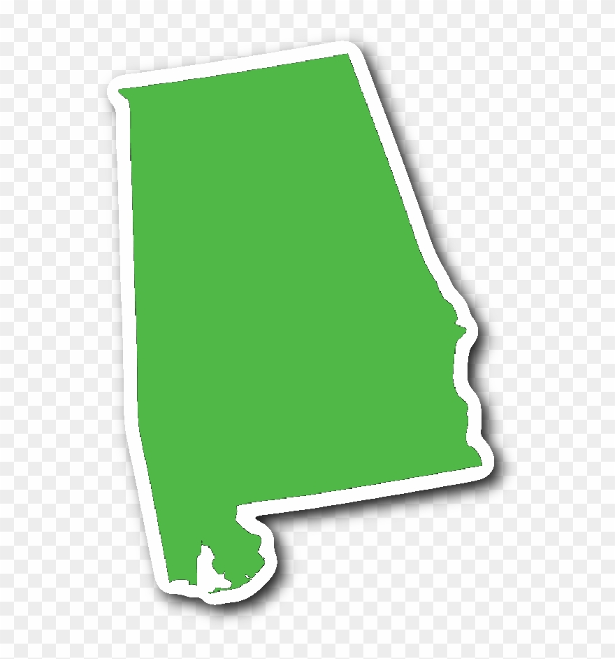Alabama mail stamp clipart clip art free stock Alabama State Shape Sticker Lime Green Clipart (#1527881) - PinClipart clip art free stock