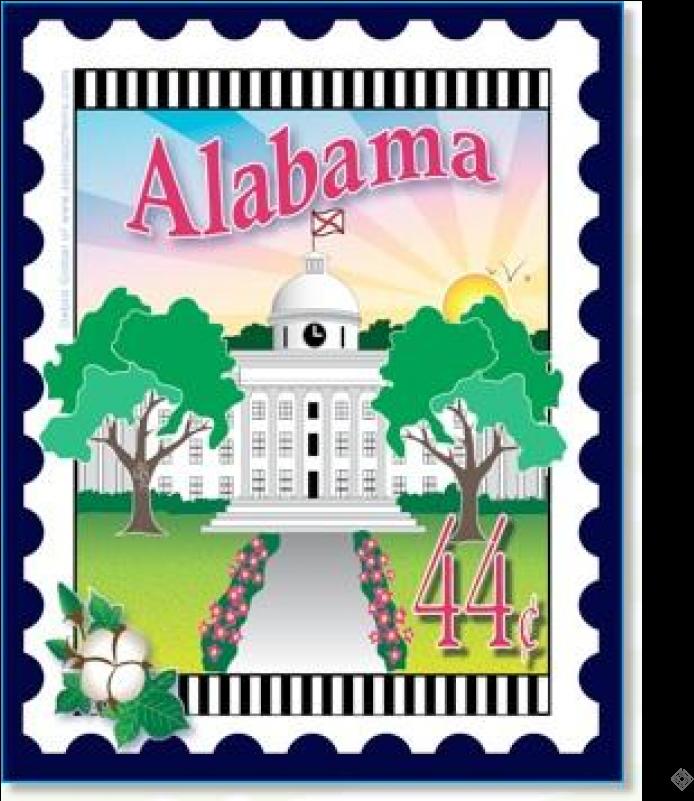 Alabama mail stamp clipart graphic royalty free library HD State Stamp Alabama - Arizona Stamp , Free Unlimited Download ... graphic royalty free library