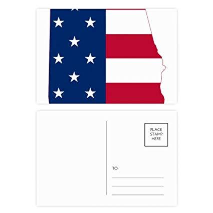 Alabama mail stamp clipart svg library stock Amazon.com : Alabama USA Map Stars Stripes Flag Shape Postcard Set ... svg library stock