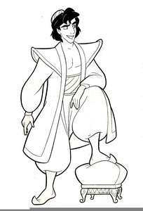 Aladdin black and white clipart png library stock Walt Disney Aladdin Clipart   Free Images at Clker.com - vector clip ... png library stock