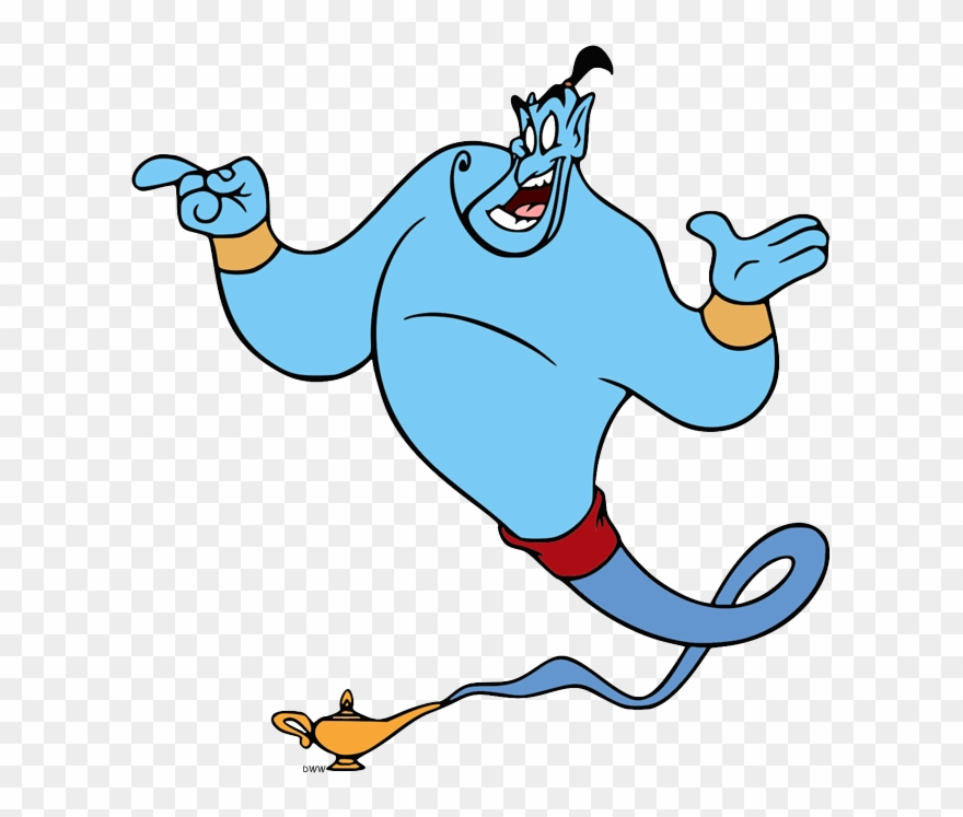 Aladin genie clipart png free library Back To Aladdin Clip Art Menu - Cartoon Genie In A Bottle - Png ... png free library