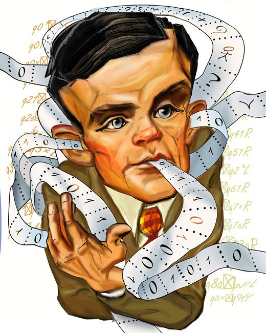 Alan turing clipart vector black and white library Rate our Alan Turing Caricature   Posted via email from Simp…   Flickr vector black and white library