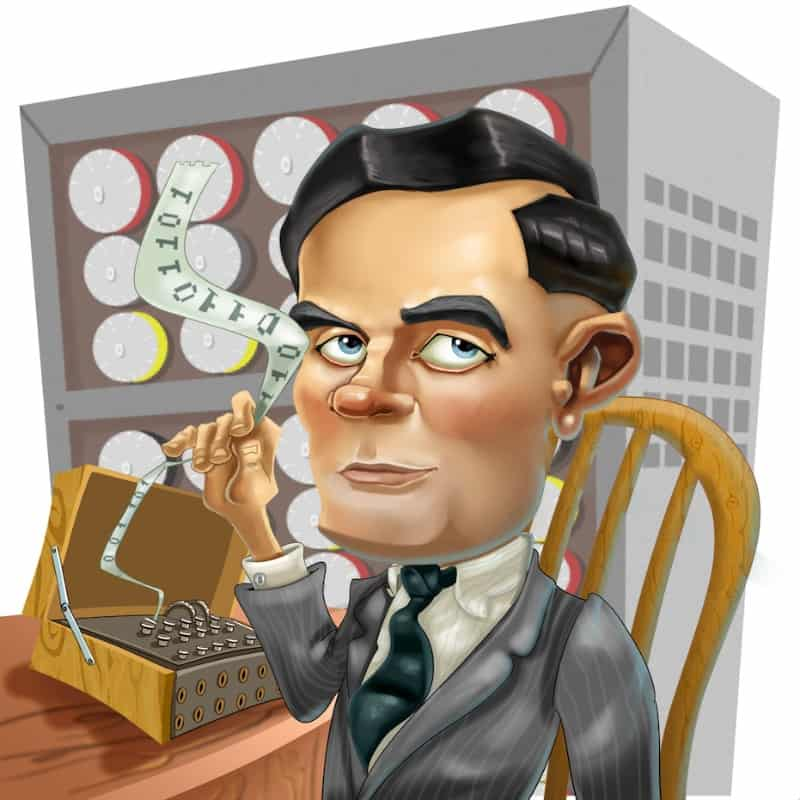 Alan turing clipart clipart black and white download Alan Turing   Simply Charly clipart black and white download