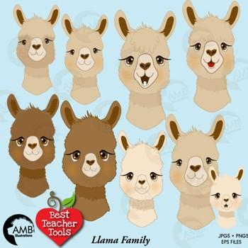 Alapca clipart clipart freeuse stock Llama Faces Clipart, Alpaca Clipart, Animal Faces, AMB-2257 clipart freeuse stock