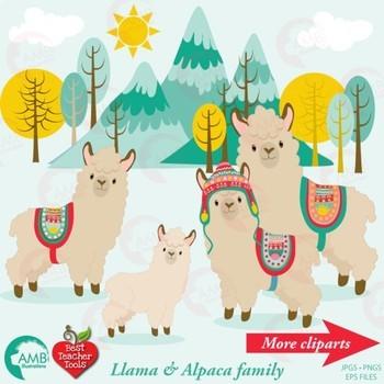 Alpaca llama clipart free stock Llama Clipart, Alpaca Clipart, { Best Teacher Tools } AMB-1985 free stock