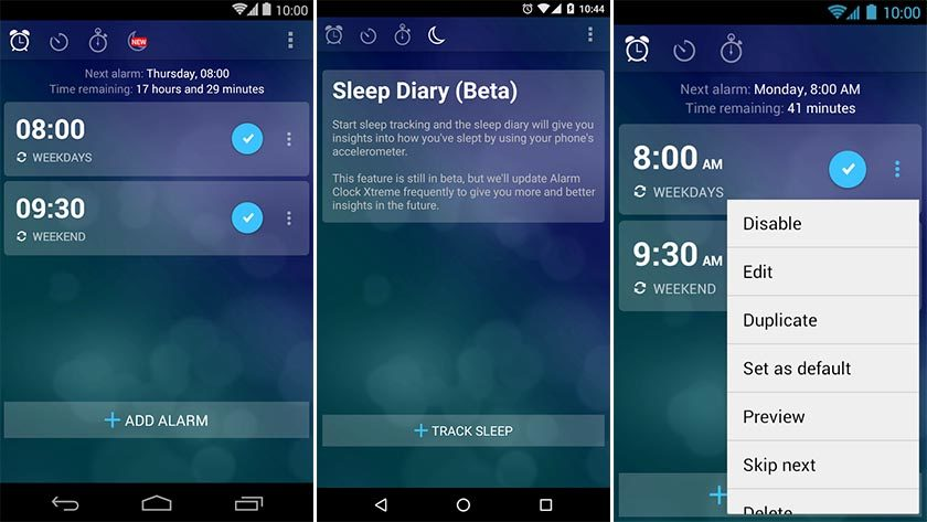 Best alarm clock apps for Android vector