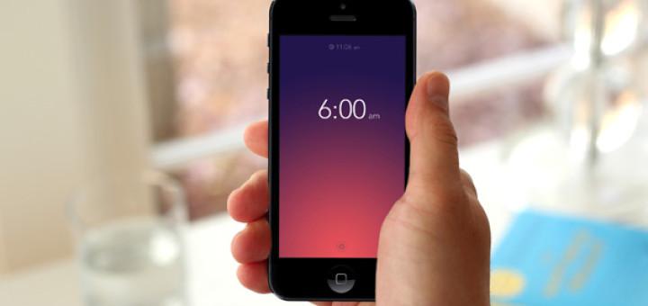 Alarm app clip Rise Alarm Clock • Beautiful Pixels clip