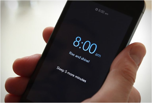 Rise | Minimalist Alarm Clock App png black and white stock