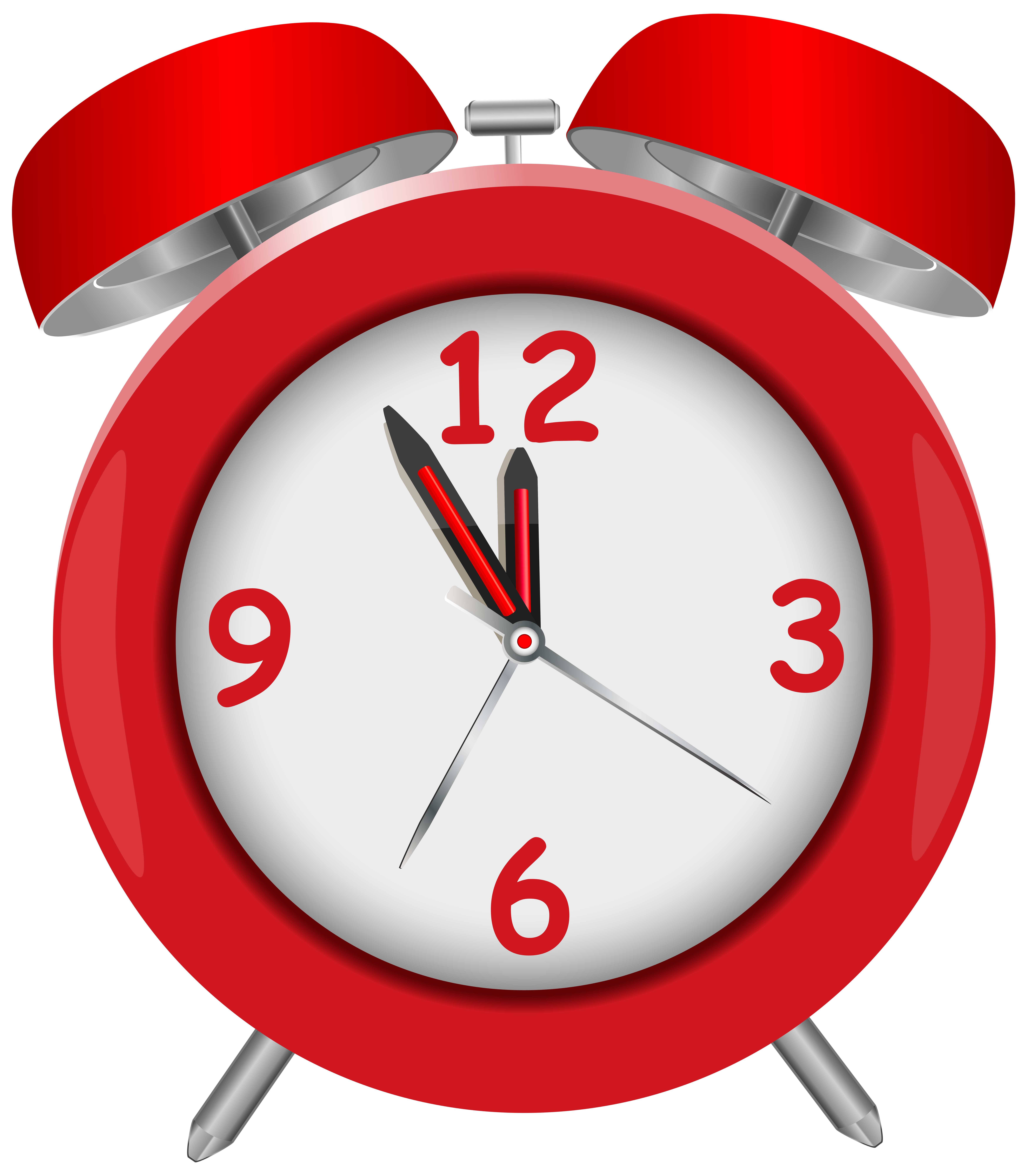 Alarm clipart red png transparent Red Alarm Clock Red PNG Clip Art - Best WEB Clipart png transparent