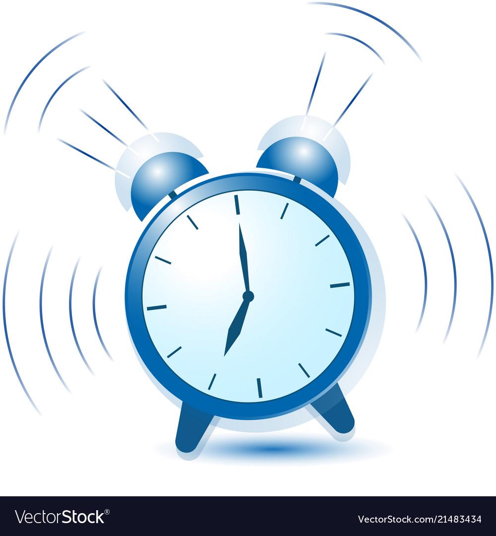 Alarm clock clipart blue image royalty free Blue alarm clock sounds and vibrates image royalty free