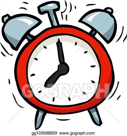 Alarm clock picture clipart png transparent download Vector Stock - Cartoon doodle alarm clock. Clipart Illustration ... png transparent download