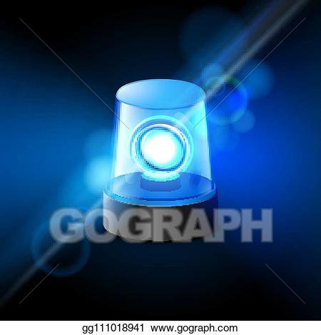 Alarm police clipart vector library stock Vector Art - Blue flashing police beacon alarm. police light siren ... vector library stock
