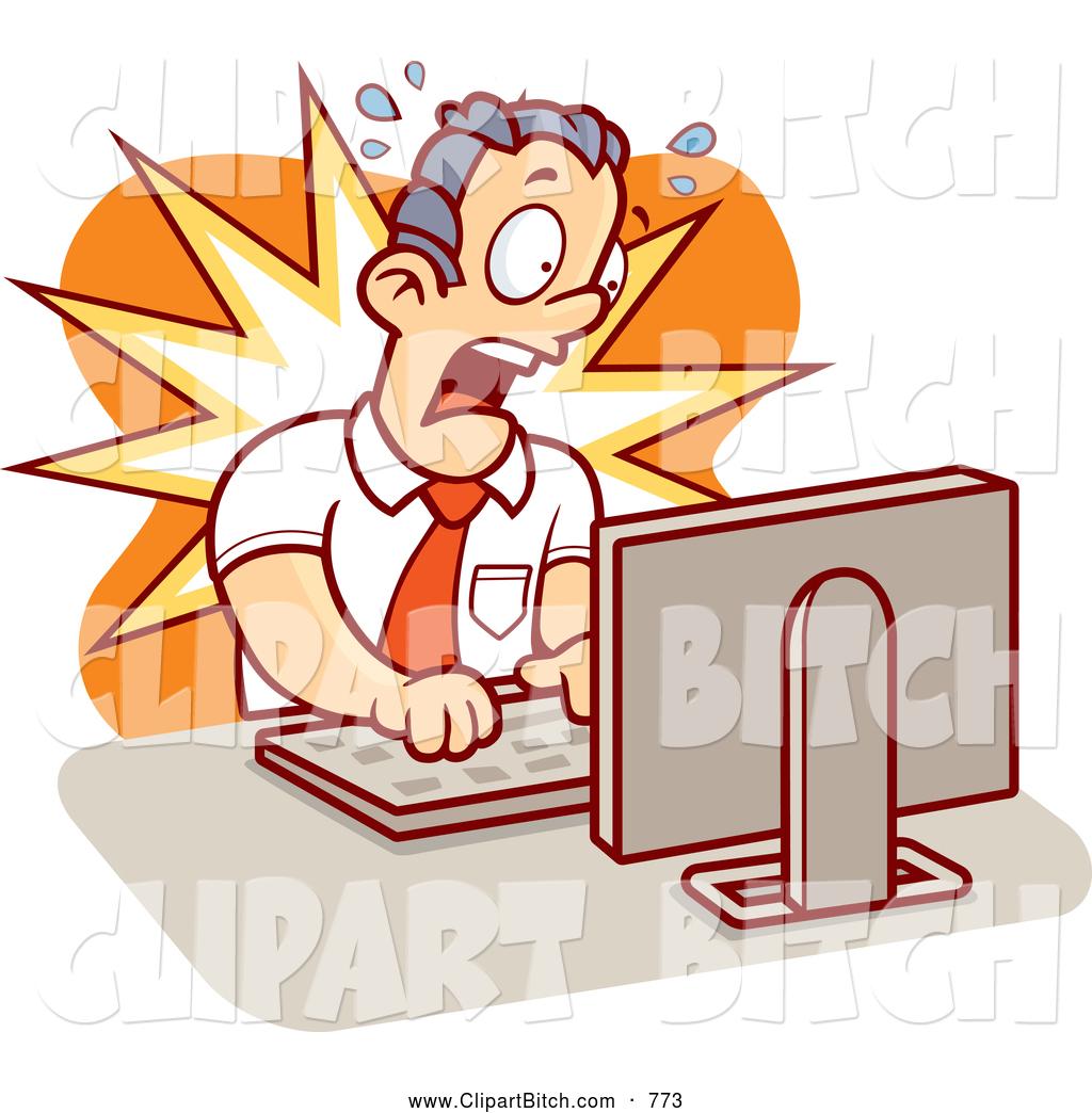 Alarmed clipart man clip Clip Vector Cartoon Art of a Alarmed Mad Businessman Working on a ... clip