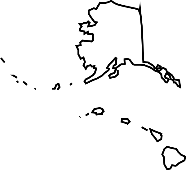 Clipart u s map picture black and white stock Alaska Map Clipart - Clipart Kid picture black and white stock