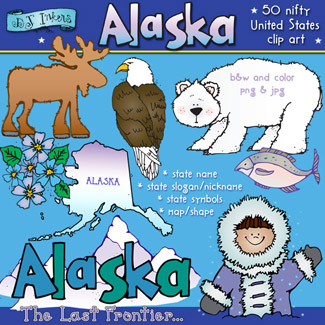 States alaska shape clipart graphic royalty free Cool clip art smiles from Alaska by DJ Inkers - DJ Inkers graphic royalty free