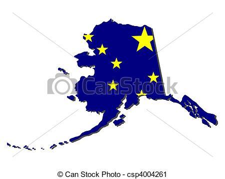 Illustrations and stock illustration. Alaska map clip art