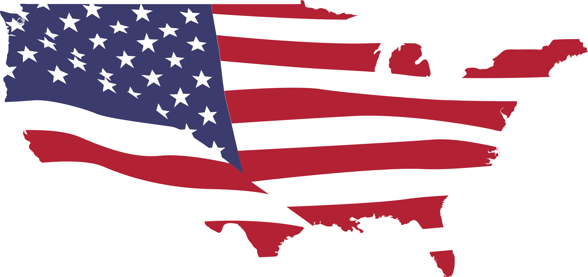 Alaska map clip art png free download Clipart - USA Map Flag (Without Alaska, Puerto Rico and Hawaii) png free download