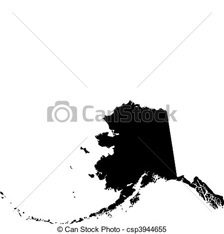 Alaska map clip art png Clipart Vector of black vector map of Alaska csp3944655 - Search ... png