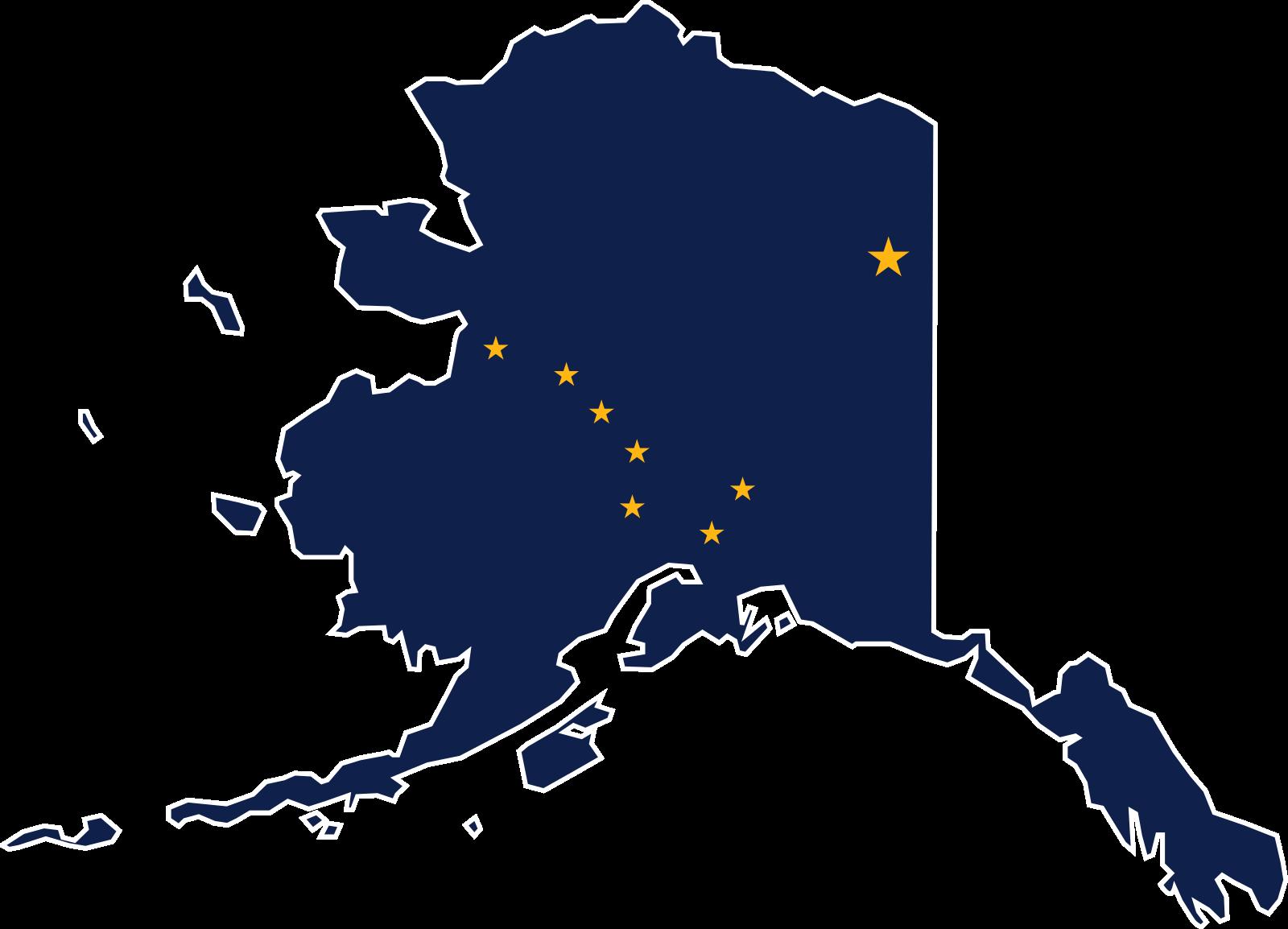Alaska map clipart jpg library stock Flag map of Alaska | Flag Maps Of The United States | Pinterest ... jpg library stock