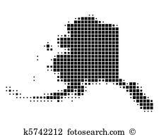Alaska map Clipart Royalty Free. 608 alaska map clip art vector ... png library