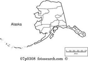 Alaska map Clipart Royalty Free. 608 alaska map clip art vector ... clipart stock